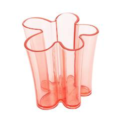PENCIL HOLDER CORAL RED