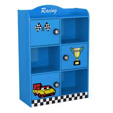 Racing Car Cabinet with 3 Doors - Blue