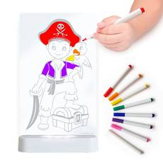 LED Colour Me Night Light (USB/Battery) - Pirate Boy