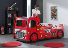 Fire Engine Bed with Light