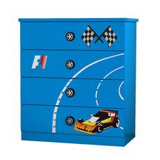 Racing Car Chest & Drawer - Blue