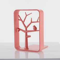 BOOK ENDS CORAL RED