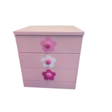 Flower 3 Drawer Bedside