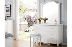 Alicia 3 Drawer Low Boy with Mirror