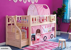 Canopy Single Bunk Bed