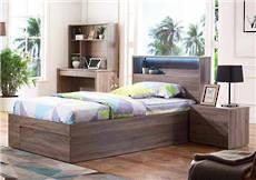 Adela King Single Bed Mocha Oak