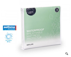Drylife King Single Waterproof Breathable Mattress Protector