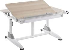 ERGONOMIC DESK WOOD WHITE