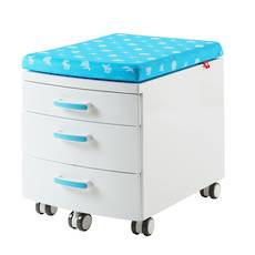 BLUE 3-DRAWER UNIT WITH SEAT
