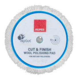 RUPES BigFoot Rotary 200mm Wool Polishing Pad - Cut and Finish
