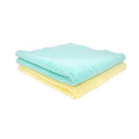 Two Face Buffing Towels (Yellow/Mint) 2 pack