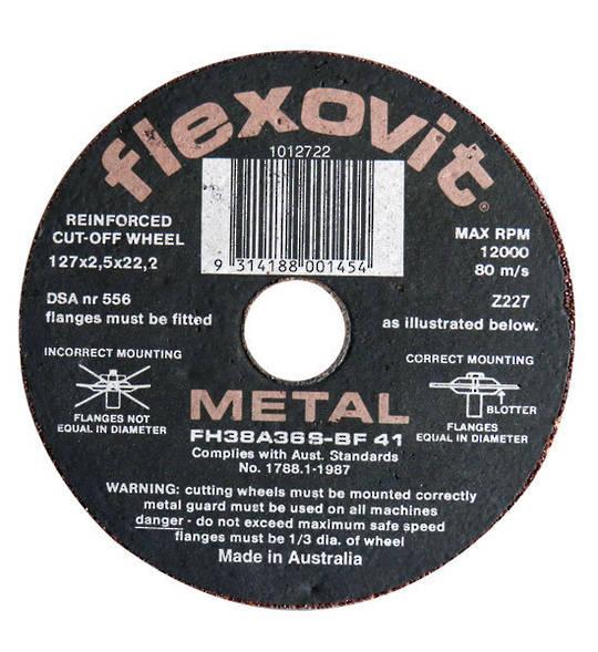 Flexovit 127mm  x 2.5 Reinforced Metal Cut off Disc