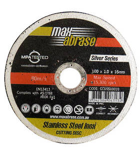 Max Abrase 100mm x 1.0 x 16 Stainless Steel Inox Cut off Wheel