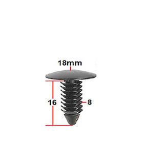 Carklips X-Tree Clips, Universal 8mm
