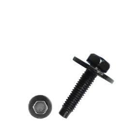 Carklips 10mm Bolt, M6 x 25, Large Wash Black
