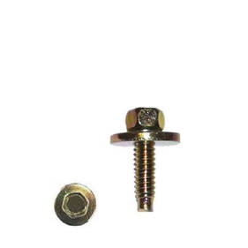 Carklips 10mm M6 x 18 Bolt, Large Washer Gold