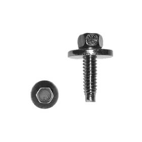 Carklips 10mm Bolt, M6 x 1, Large Wash Black