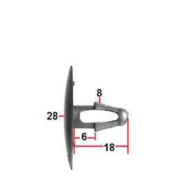 Carklips Toyota Pad Clip, Universal