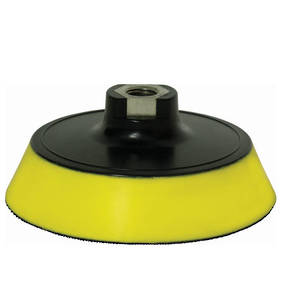 Farecla G Mop Back Plate with Yellow Interface for 150mm Pads