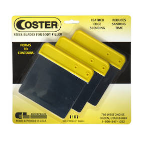 GL Coster 1101 Metal Body Filler Applicator Set of 3