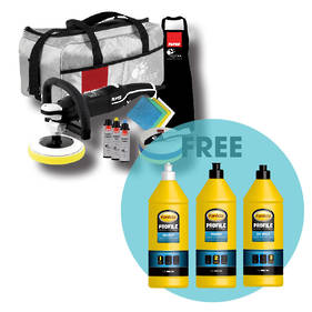RUPES BigFoot LH 19E Professional Rotary Polisher Deluxe Kit with Farecla Polishing Pack