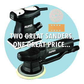 RUPES Painters Deal, 2 Great Sanders, 1 Great Price