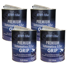 K1W1 Grip Premium Automotive Filler 3L Box of 4