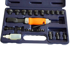Pneutrend Pneumatic Thru-Hole Ratchet Wrench Kit