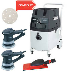 RUPES Powerful Twin Operator Dustless Sander Vacuum Combo RUKS260ES COMBO 17