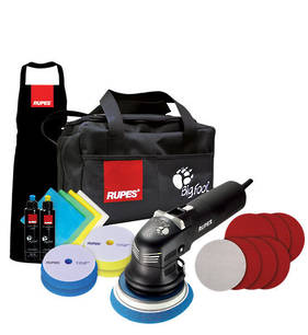 RUPES LHR12E DUETTO BigFoot 'Duetto' Electric Random Orbital Sanding and Polishing Deluxe Kit