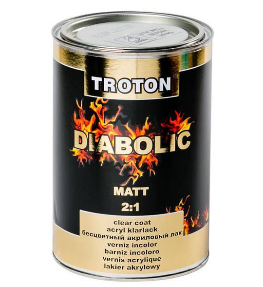 Troton Diabolic 2:1 Acrylic Clearcoat Matt 1 Litre