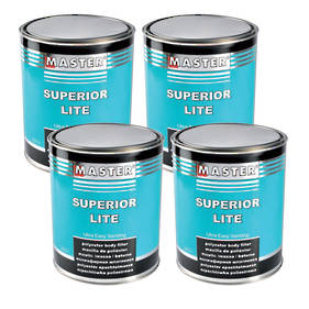 Troton Master  Superior Lite Polyester Putty 3 Litre Box of 4