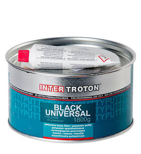 Troton Black Universal Polyester Body Filler Putty 1800g