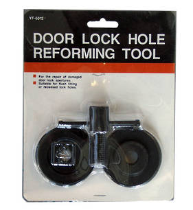 Door Lock Hole Reforming Tool with T Handle