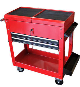 Tool Cart with Two Drawers and Sliding Top