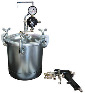 2 1/4 Gallon Pressure Pot with 1.2mm Spray Gun