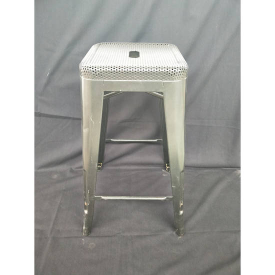 Bar Stool - Steel - Grey 65cm