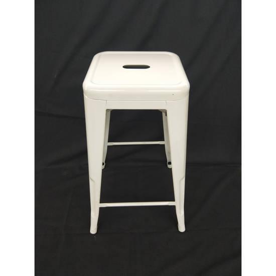 Bar Stool - Steel - White 65cm