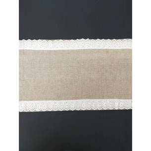 Table Runner - Burlap with Lace