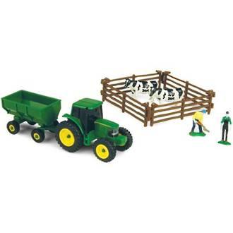 John Deere 10 Piece Farm Set - Cows
