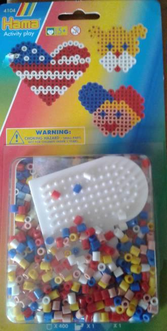 Hama Blister Heart Set 400 Beads H4104