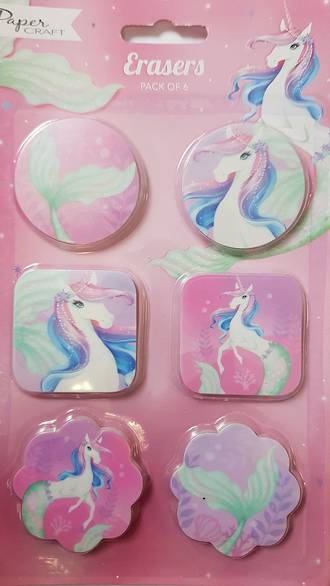 Unicorn/Mermaid Erasers
