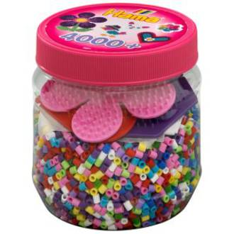 Hama Beads 4000 with hexagon heart flower H2051
