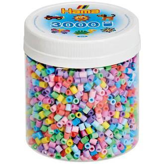 Hama Beads 3000 Pastel mix H209-50