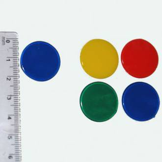 22mm Counters Solid Colours