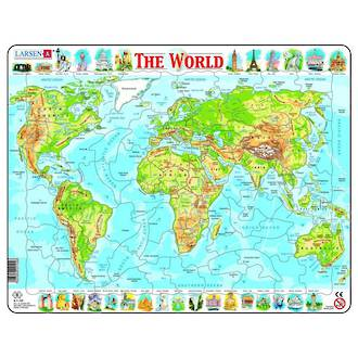 Larsen Tray Puzzles - The World 80 pieces