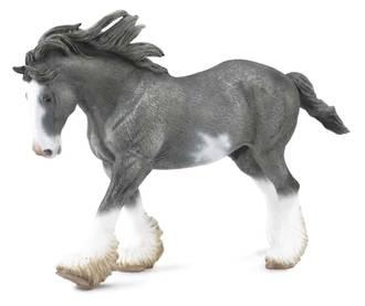 Collecta - Clydesdale Stallion Black Sabino Roan