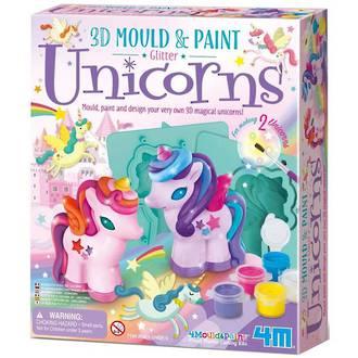 4M Mould & Paint Glitter Unicorns
