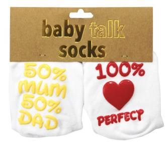 Baby Talk Socks - 50% Mum 50% Dad