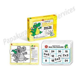 Multiplication Bingo - Beat The Crocodile